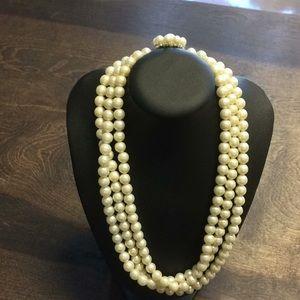 Vintage 1930s Faux Pearl Necklace